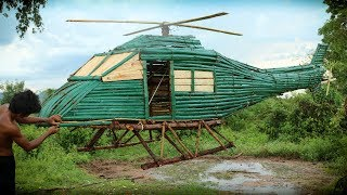 Unbelievable! Building the Most Awesome Helicopter Using Bamboo