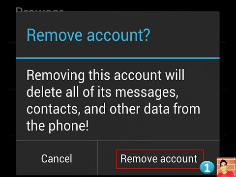 How to remove email accounts(gmail/ymail) from gmail app in Android?