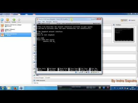 Tuturial 1 - Step By Step Configuring Network Interfaces On Ubuntu 14.04 Linux Server