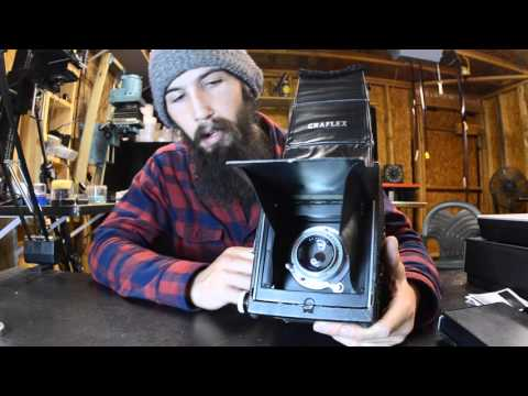 Graflex RB super D Polaroid conversion. Vintage camera review