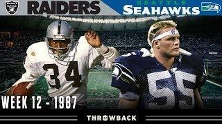 """""""Bo vs. the Boz"""" (Raiders vs. Seahawks, 1987)"""