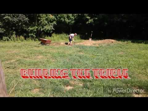 Building a triple on my backyard BMX track