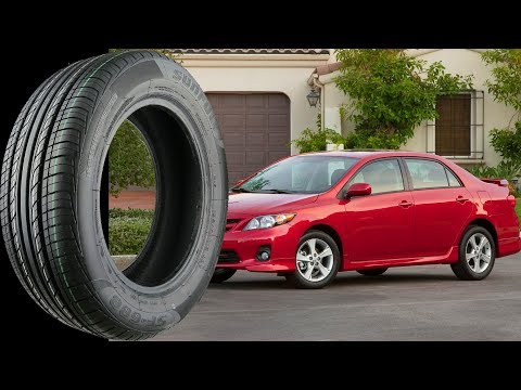 Stock Tire Size for all TOYOTA COROLLA 1991-2017