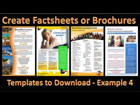 Make Brochure - How to Make Brochures in Microsoft PowerPoint 2010 - Single Page Example 4
