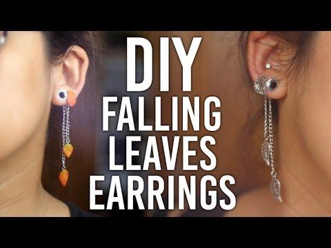 How to make Falling Leaves Earrings : DIY