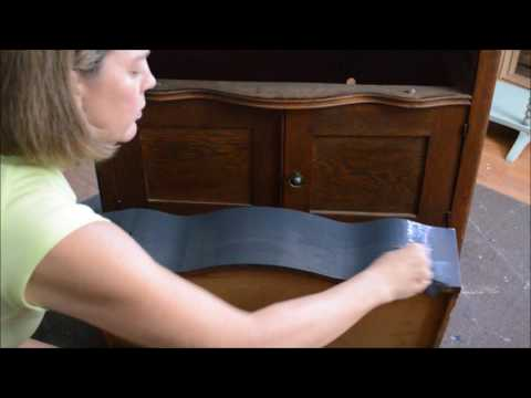 How to Paint Furniture Using Chalk Paint - Farmhouse Cabinet ReDo