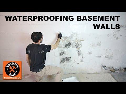 Waterproofing Basement Walls with DRYLOK® Paint -- by Home Repair Tutor