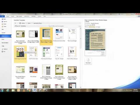 How to Create a Flyer with Word 2010