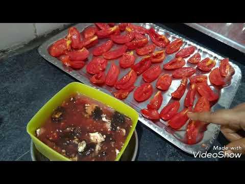 Sun dried tomato pickle (Kannada).