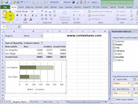 Change Excel Pivot Chart Data Source
