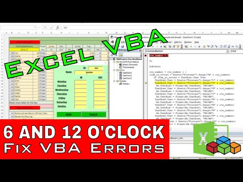 Excel VBA Is Fun - 6 Oclock and 12 PM Don't Appear Correctly on Userform