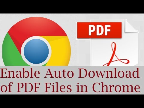 How to Enable Auto Download of PDF files in Google Chrome Instead of Opening them in Chrome
