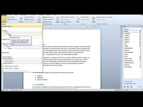 How to Create Numbered Heading in MS Word 2010 and Adobe FrameMaker