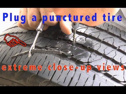 How To Plug a Car Tire - Tire Repair