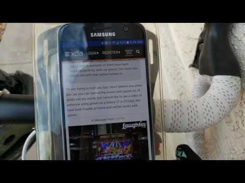 Samsung Galaxy S7 screen sensitivity test