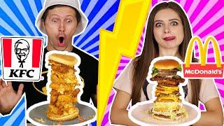 Скупили все бургеры в McDonald's и KFC! И соединили их в один! 🐞 Эльфинка