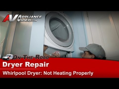 Dryer Repair Not heating - Repair & Diagnostic Whirlpool, Maytag,Roper,KitchenAid - GEW9250PW0