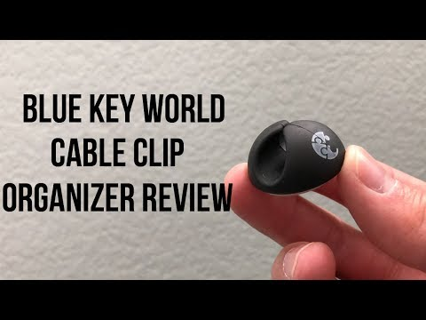 Blue Key World Cable Clip Organizer Review