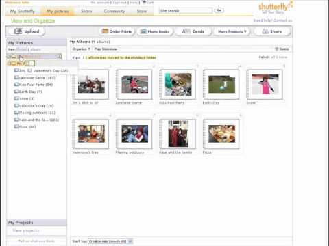 Organizing your pictures in Shutterfly