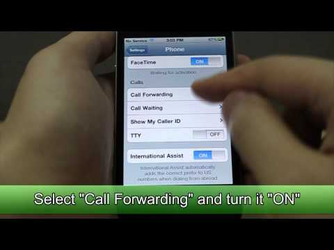 How to Set Call Forwarding on Apple iPhone 4