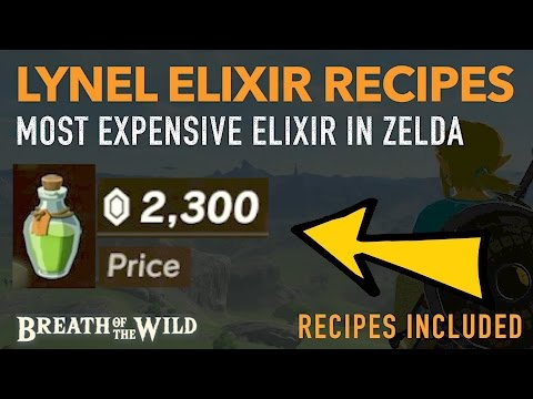 How to Cook EXPENSIVE Lynel Elixir Recipes - (HIGHLY PROFITABLE) - Zelda: Breath of the Wild