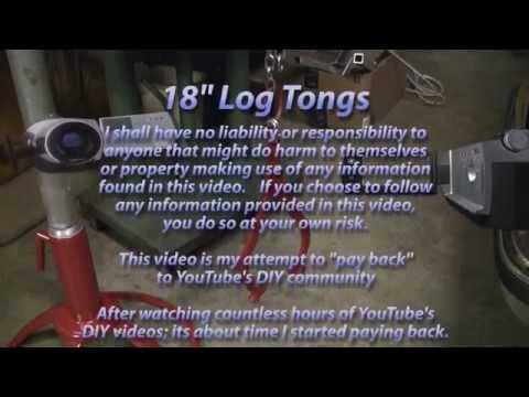 18 in. Log Tongs