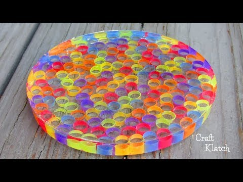 Resin Straw Coaster DIY | Craft Klatch | Another Coaster Friday