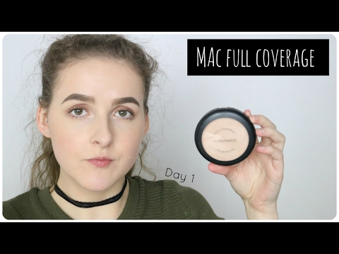 DAY 1 MAC FULL COVERAGE FOUNDATION REVIEW | 10 Days of Foundation