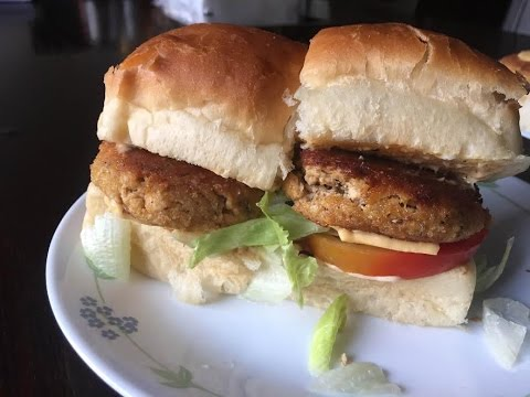 How to make chicken burger patties