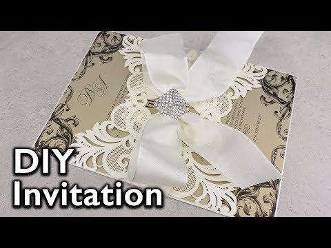 Elegant Damask Lasercut Invitation | DIY Wedding Invitations | Eternal Stationery
