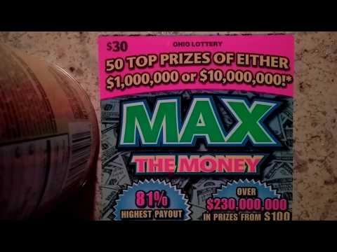 $30 Ohio Lottery Max The Money Winner!!!!