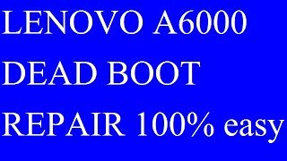 Lenovo A6000 dead recoverd done by emmc change via Easy Jtag