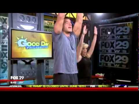 BJ Gaddour on Fox 29 Philadelphia to Promote Men's Health Your Body is Your Barbell Book
