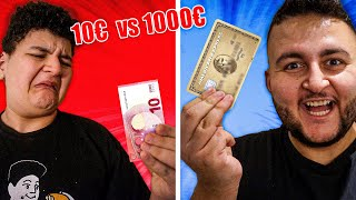 🤑 1000€ TAG vs. 😪 10€ TAG Challenge   Can Wick