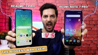 Realme 3 Pro vs Redmi Note 7 Pro - Camera,Performance,Battery,Display,Charging,Design & More