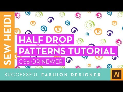 Half Drop Seamless Repeating Patterns with the Pattern Making Tool in Adobe Illustrator CS6