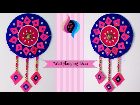Wall hanging using woolen thread - Wall hanging decoration - Diy wall hanging craft
