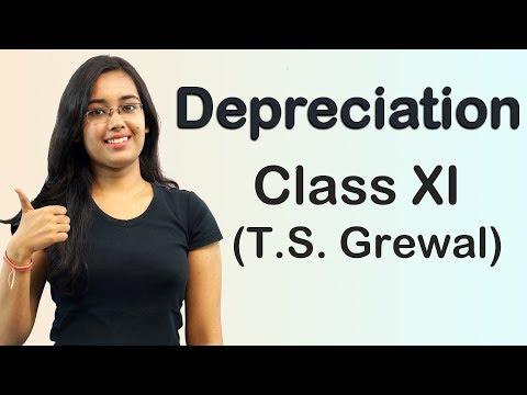 Depreciation - Written Down Value Method - WDV (T.S Grewal Accounts Class 11th