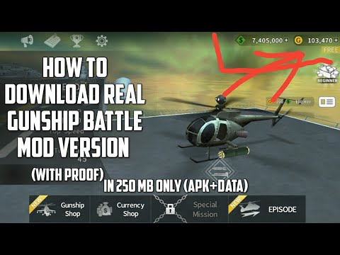 How to download gunship battle mod version (1000% working) with proof || unlimited golds and dollars