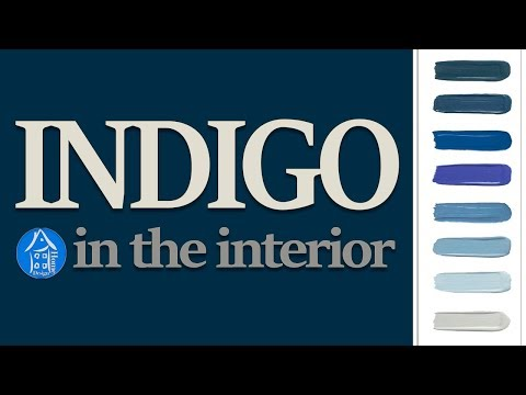 💗 Interior Color Indigo | Latest trends in painting walls | Ideas for home - Color Trends 2018