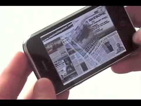 Magazines and Newspapers on Iphone with Mozzo™