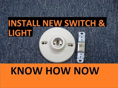 How to Wire a Light Switch - Install a New Switch
