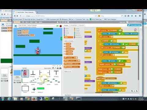 How to do Side Scrolling Movement with Scratch Programming