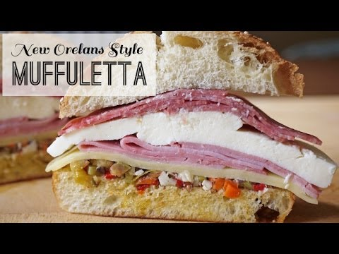 New Orleans Muffuletta - Best Sandwich Recipe for Parties, Lunch or Dinner | One Hungry Mama