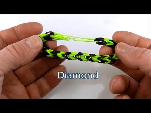 How to make the Diamond bracelet on the Rainbow Loom