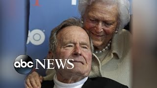 President George H.W. Bush hospitalized days after wife