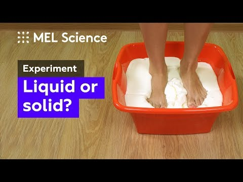 How to make non-Newtonian fluid from starch and water (home experiment)
