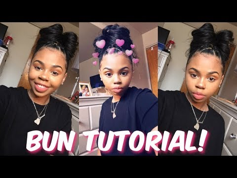 MESSY BUN WITH TWIST! | Natural Hair | CrySTYLE Beauty