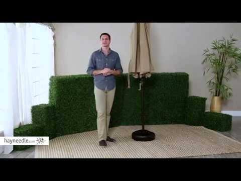 50-lb. Patio Umbrella Base - Product Review Video