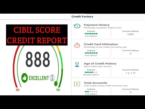 How to read cibil report || What is a good cibil score hindi Urdu 2017 2018